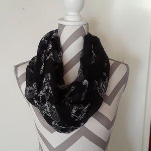 Steampunk skull infinity scarf